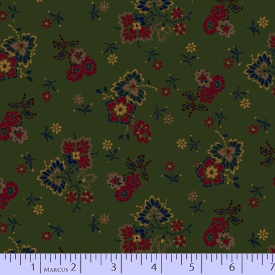 Maple Lake Flannel - Bouquets (Green)