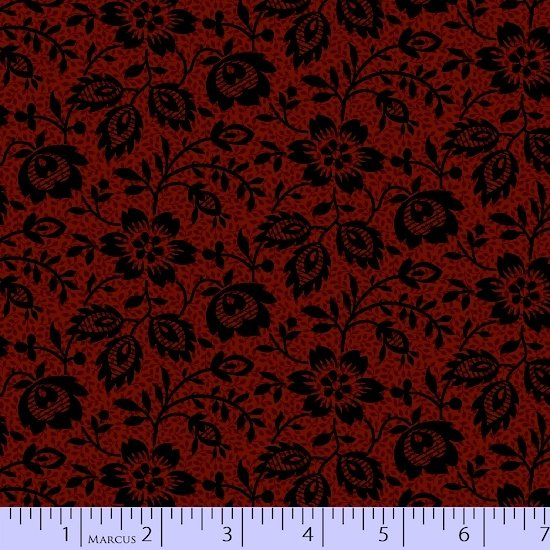 Maple Lake Flannel - Vine Floral (Red)