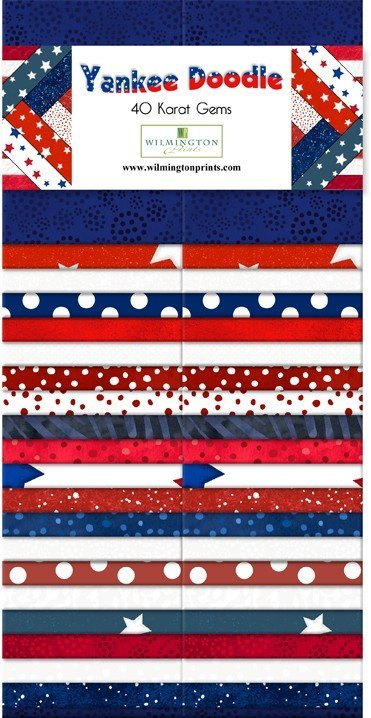 Karat Gems 40 2.5 Strips - Yankee Doodle