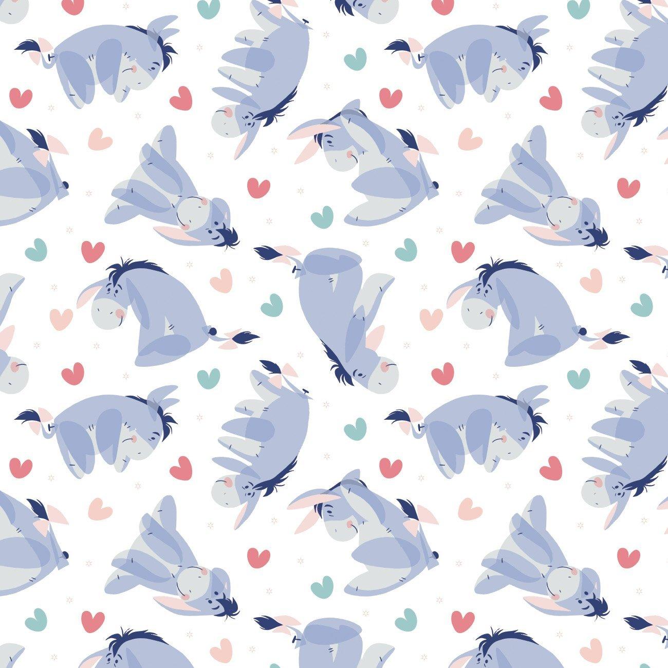 Winnie The Pooh Be Happy - Eeyore Heart Toss (White)