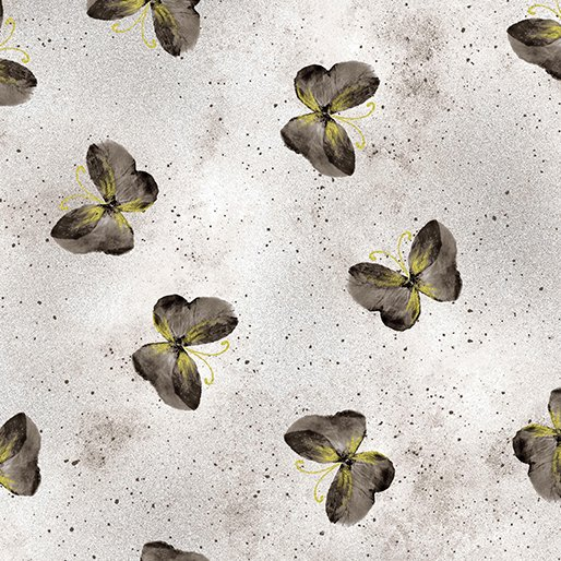 Floral Impressions - Butterfly Wash (Light Gray/Metallic)
