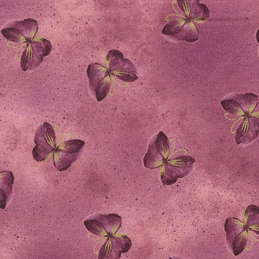 Floral Impressions - Butterfly Wash (Rose/Metallic)