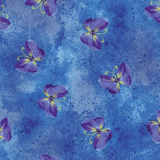 Floral Impressions - Butterfly Wash (Cobalt/Metallic)