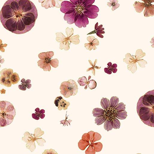 Floral Impressions - Pressed Flowers (Cream/Metallic)