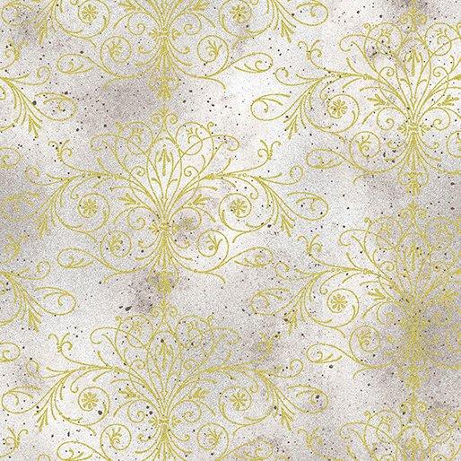 Floral Impressions - Washed Filigree (Lt Gray/Metallic)