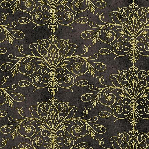 Floral Impressions - Washed Filigree (Dk Gray/Metallic)