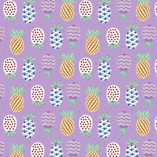 Retro Charm - Pineapples (Purple)