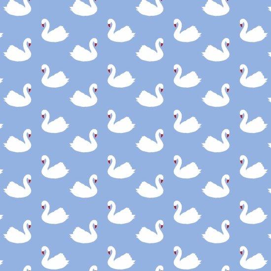 Retro Charm - Swans (Blue)