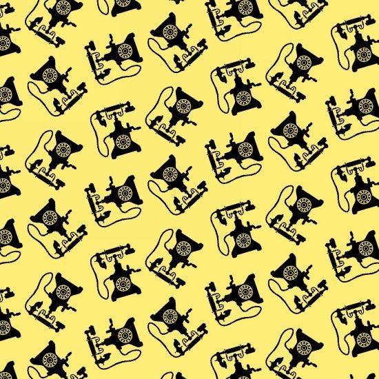 Retro Charm - Telephones (Yellow)