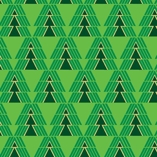 Merry and Bright - O' Christmas Tree (Green/Metallic)