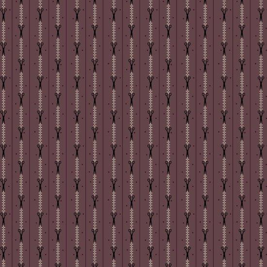 Primitive Stitches - Scissor Stripe (Purple)