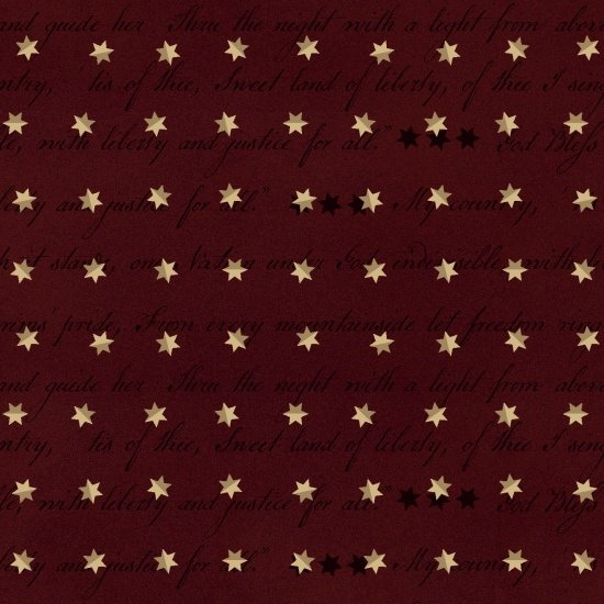Spirit of America - Words and Stars (Red)