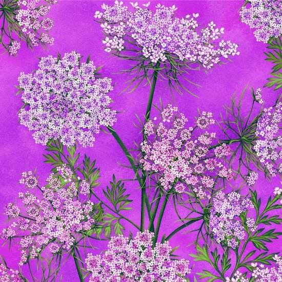 Botanic Blooms - Queen Anne's Lace (Pruple)