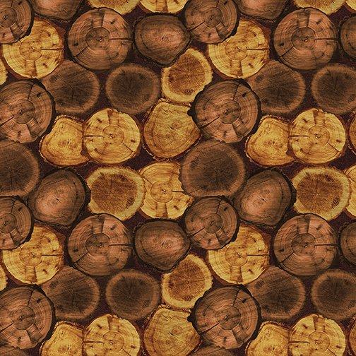 Nature Walk - Rustic Logs (Russet)
