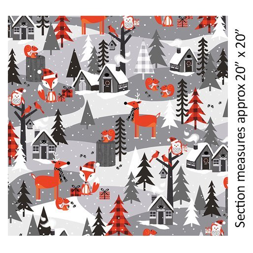 Noel Forest - Scenic (Gray/Red)