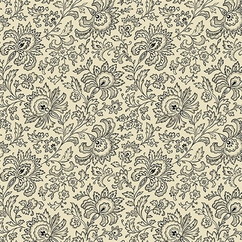 French Chateau - Imperial Floral (Ebony & Ivory)