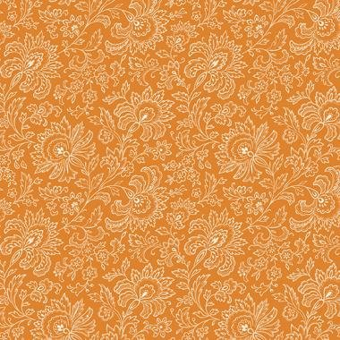 French Chateau - Imperial Floral (Tangerine)
