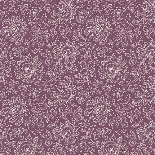 French Chateau - Imperial Floral (Plum)