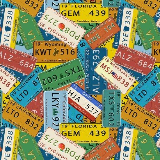 Coast to Coast - License Plates