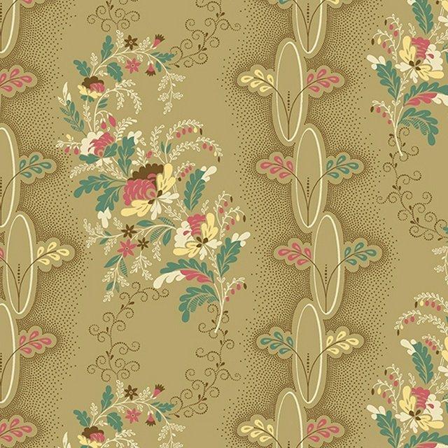 Chesapeake - Floral Stripe (Khaki)