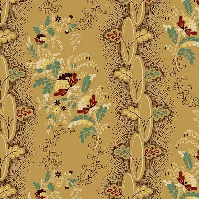 Chesapeake - Floral Stripe (Tan)