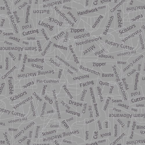 Better Stitch - Sewing Words (Gray)