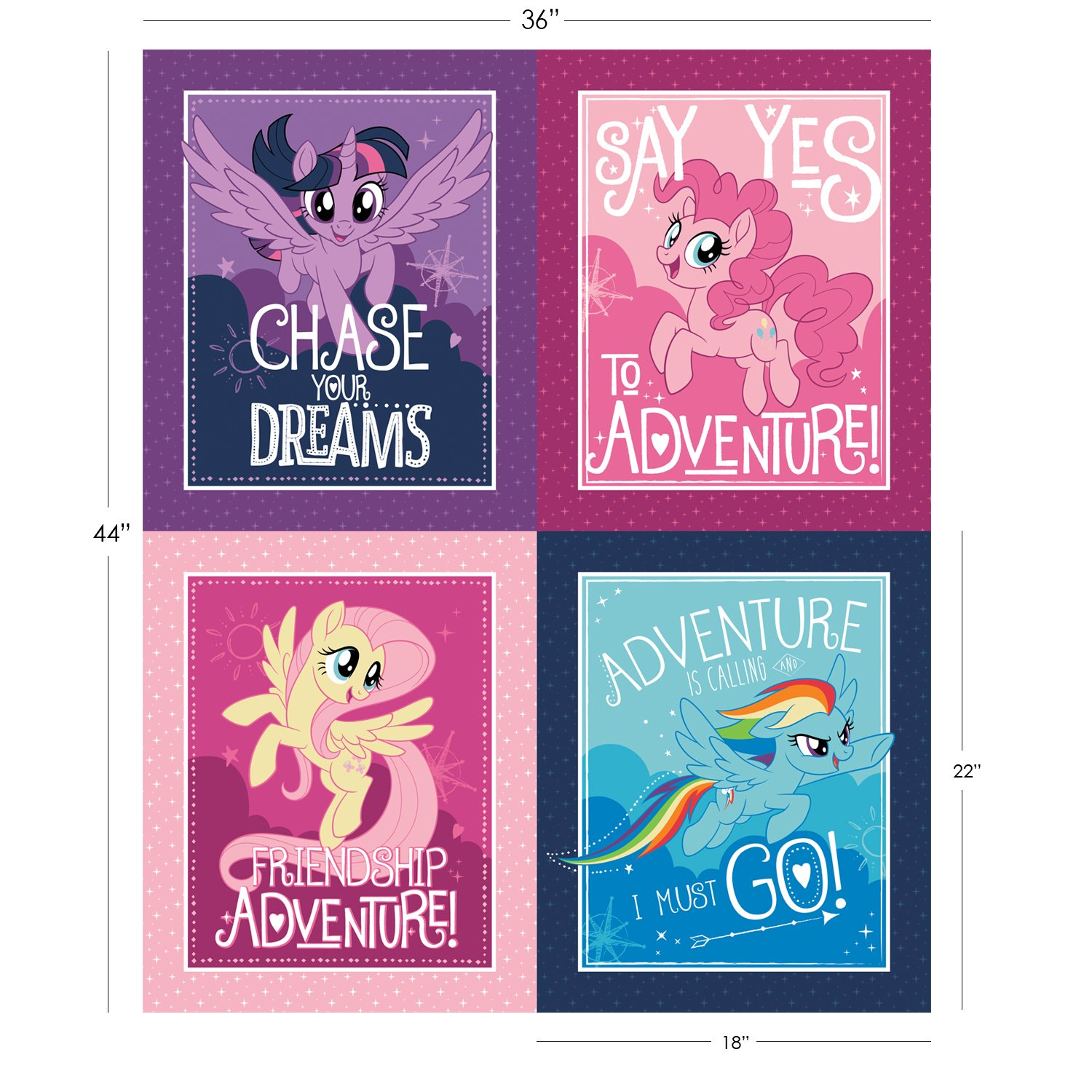 My Little Pony 36 Panel - 4 Character Blocks