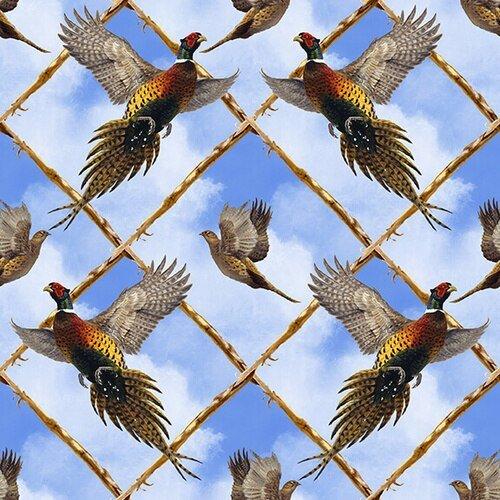 Pheasant Run - Flying Pheasant Argyle (Blue)