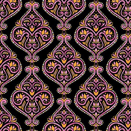 Mandala Tango - Damask (Black)