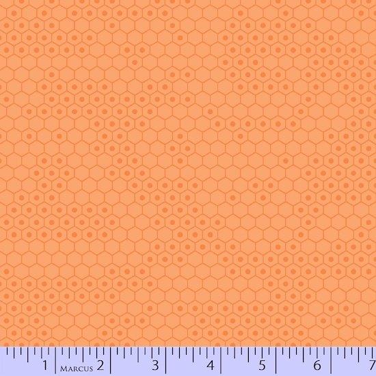 Chasing Waves - Scattered Hexagon (Orange)