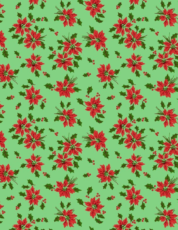 Greetings - Poinsettia (Green)