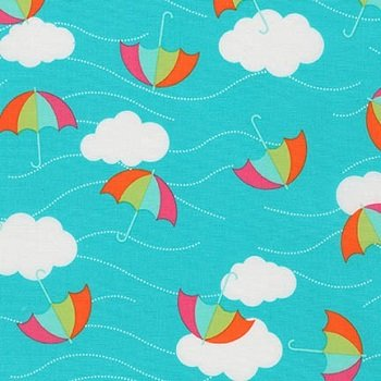 *Whatever The Weather - Umbrellas (Teal)