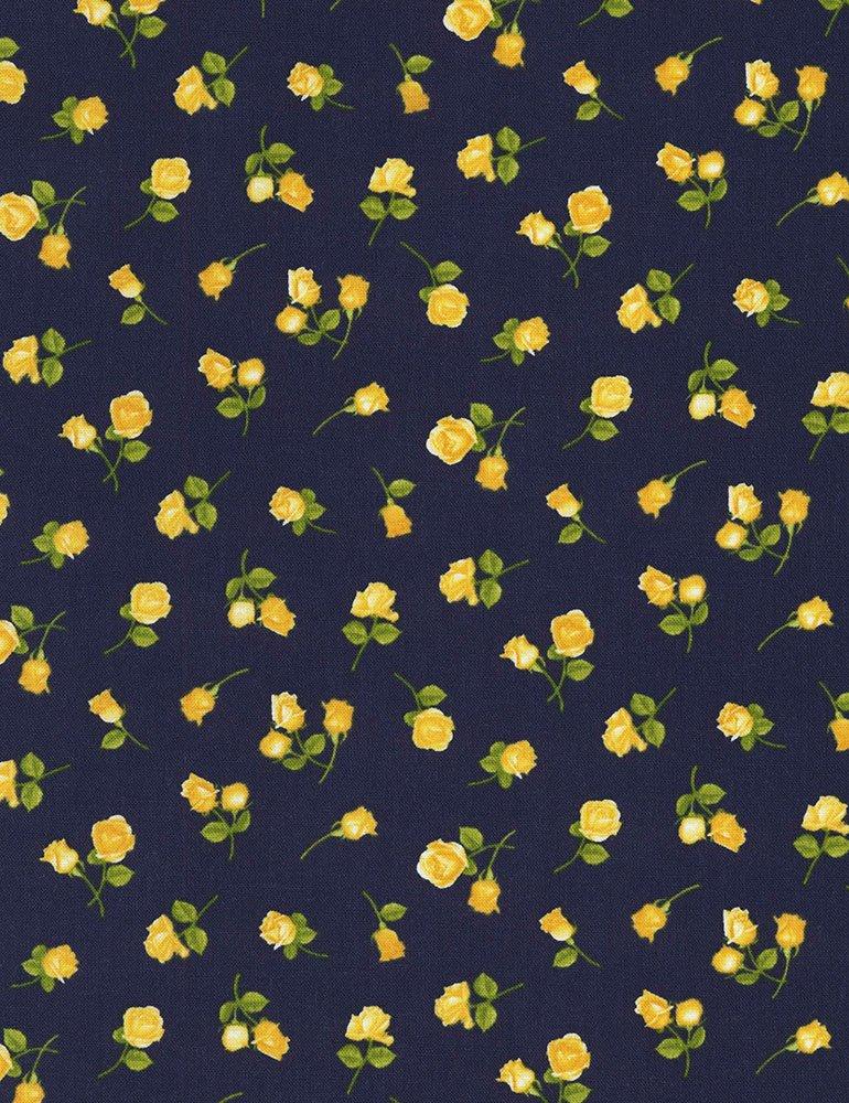 Angelica - Mini Roses (Navy)
