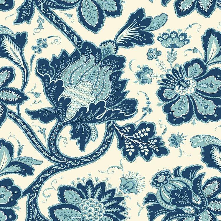 Annabella - Main Floral (Blue)