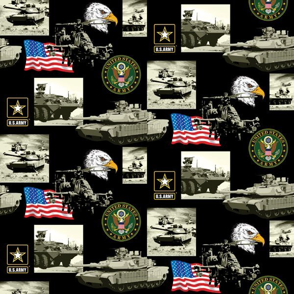 Military Prints - Allover Army