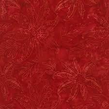 Tonga Batiks - Scalloped Flower (Red)