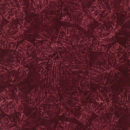 Tonga Batiks - Fossil Leaf (Ruby)