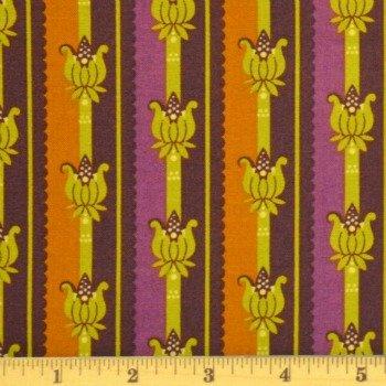 Basics - Floral Stripe (Spiced Plum)