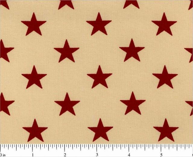 Patriotic - Stars (Tan/Red)
