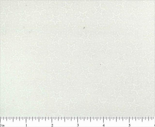 Stars Outlined 108 Backing - (White)