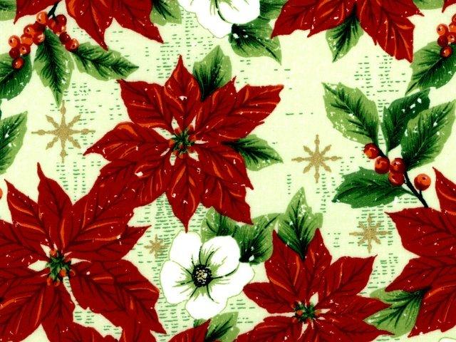 Merry Christmas - Packed Poinsettia Metallic