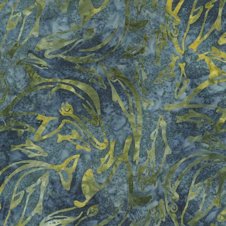 Dolphin Dance Batik (Seaweed)