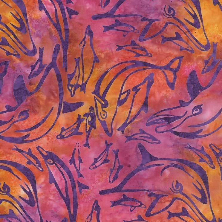 Dolphin Dance Batik (Sunkist)
