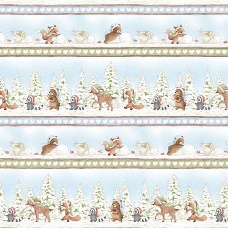 *Winter Animal 11 Stripe (Multi)