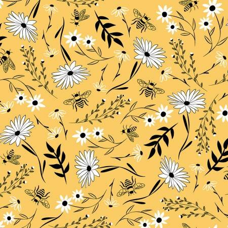 *Bee Large Florals (Honey)