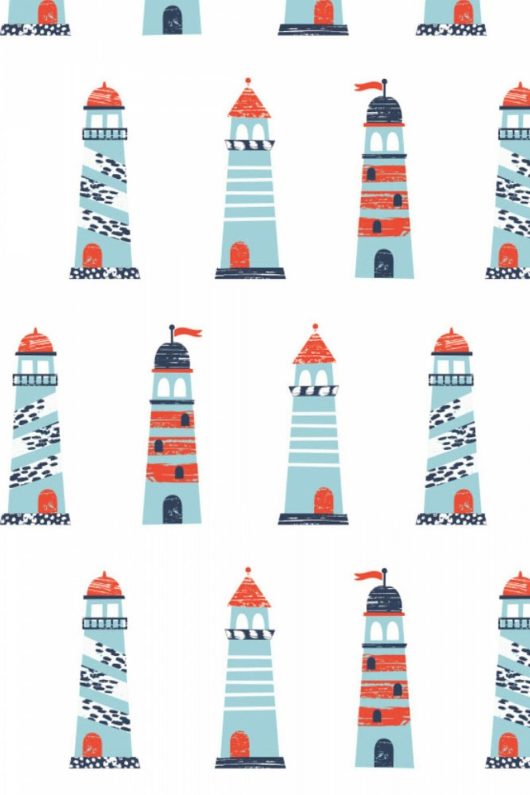 Nautical - Lighthouses (White)