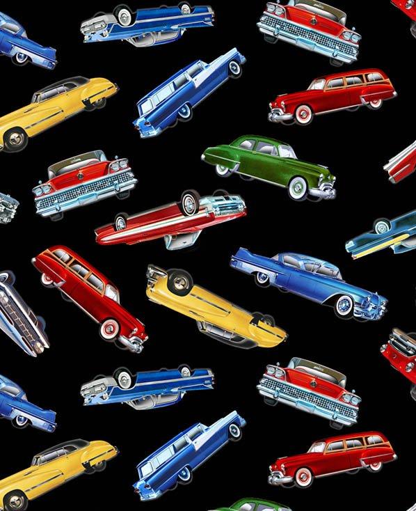 *Tossed Classic Cars (Black)