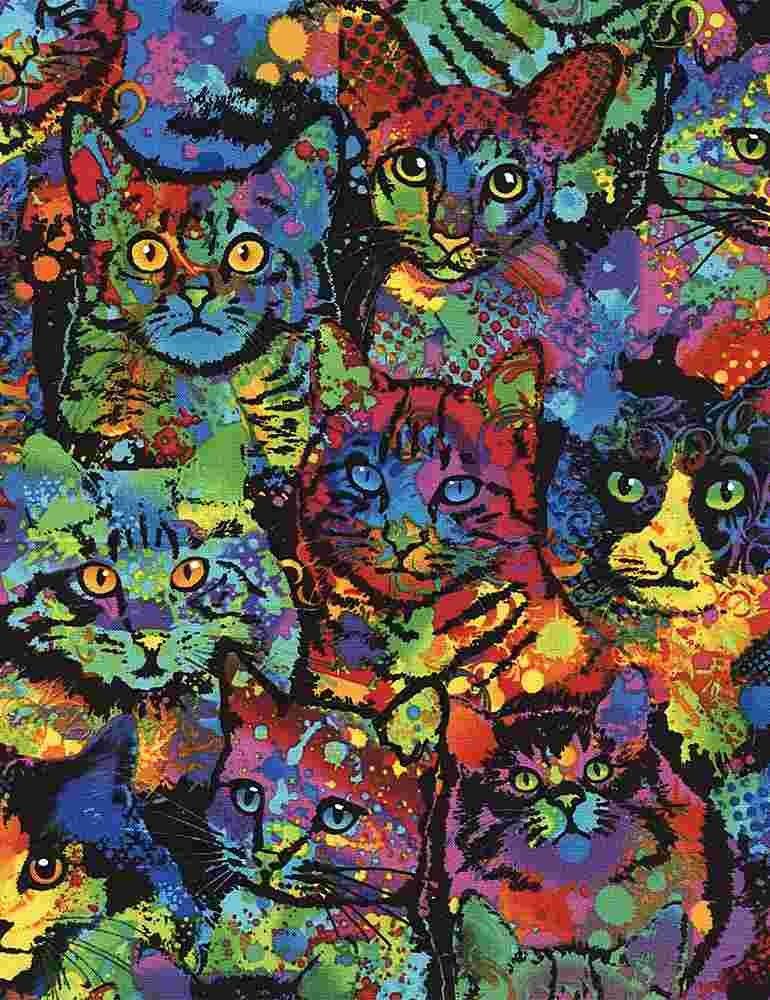 *Paint Splatter Cats (Multi)