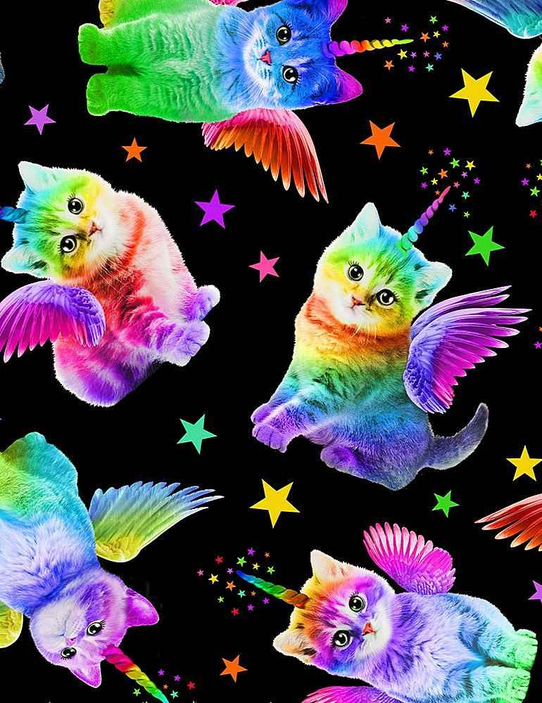 *Rainbow Unicorn Cats (Black)