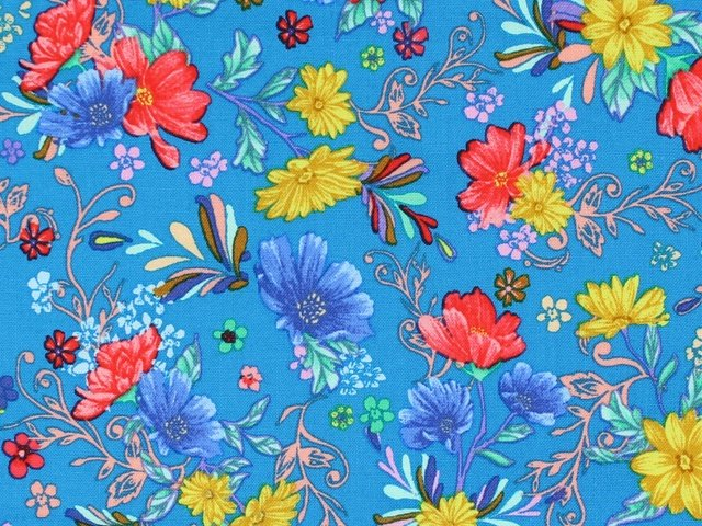 Flower Garden - Floral (Teal)